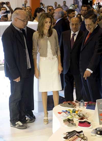 La princesa Letizia apoya el calzado español