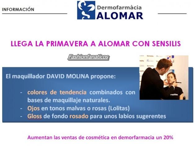 DAVID MOLINA ha presentado en DERMOFARMACIA ALOMAR, la nueva temporada de color