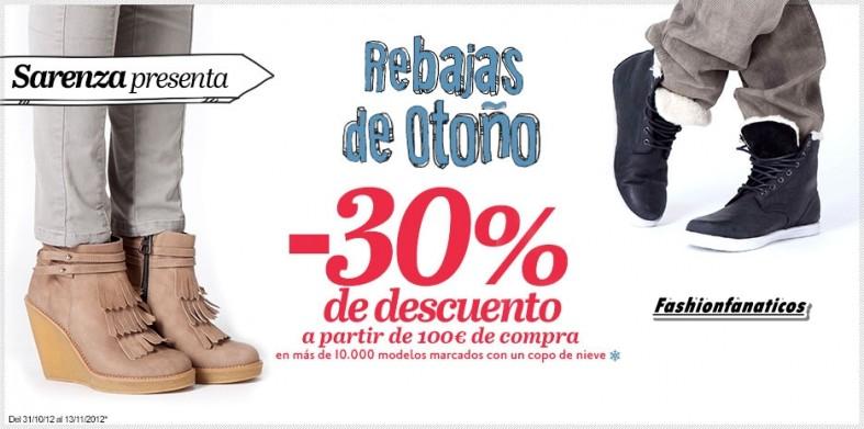 Sarenza te ayuda a comprar tu calzado favorito en sus Rebajas de Otoño!!