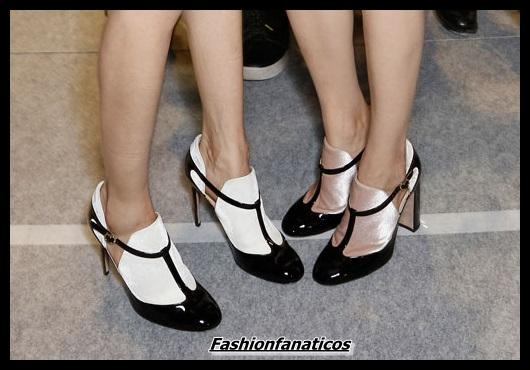 Zapatos en blanco y negro
