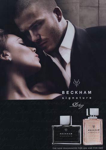 El matrimonio Beckham juntos promocionando su propio perfume