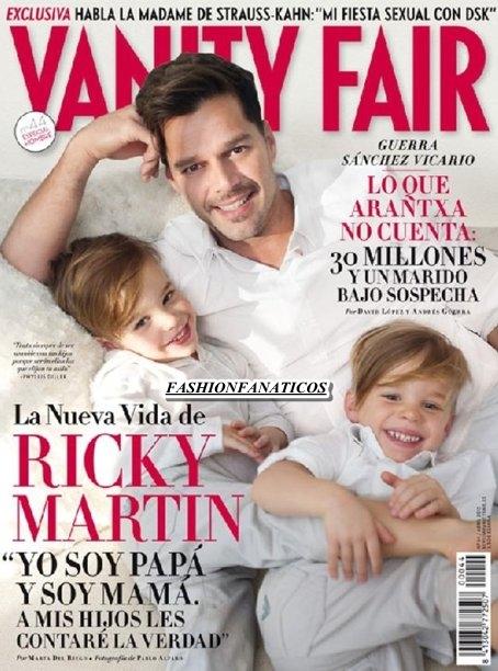 Ricky Martin muestra orgulloso a su mellizos