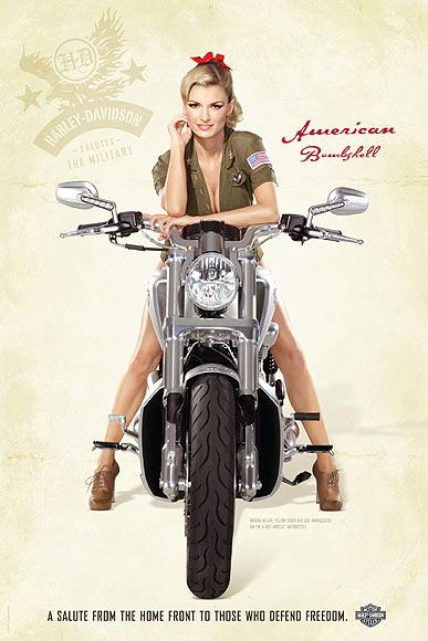 """Marisa Miller """"chica de calendario"""" para Harley Davidson"""