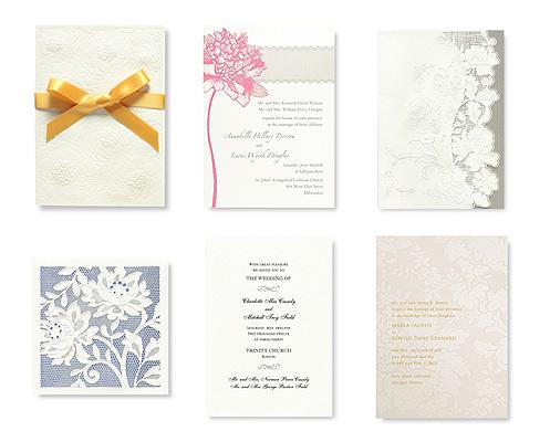 Invitaciones de boda diseñadas por Vera Wang