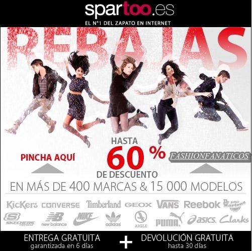 Spartoo ofrece las mejores rebajas en calzado, bolsos y complementos!!!