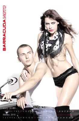 Jorge Lorenzo y la modelo Tatiana Marinescu protagonistas del calendario Barracudamoto 2010