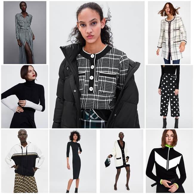 Blanco y negro, los colores de moda