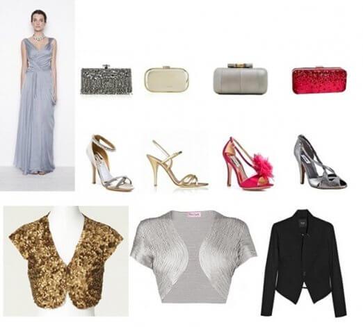 Cómo combinar un vestido de fiesta con complementos, accesorios y peinado