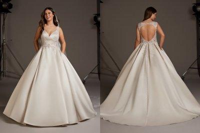 Cómo elegir tu vestido de novia si tienes unos quilos de más