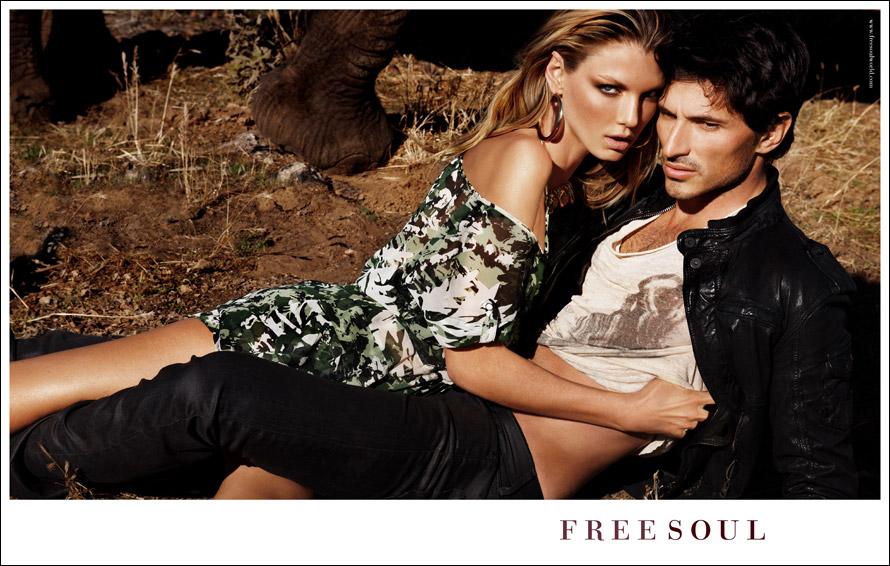 Angela Lindvall y Andrés Velencoso protagonizan la campaña S/S 2011 de Freesoul