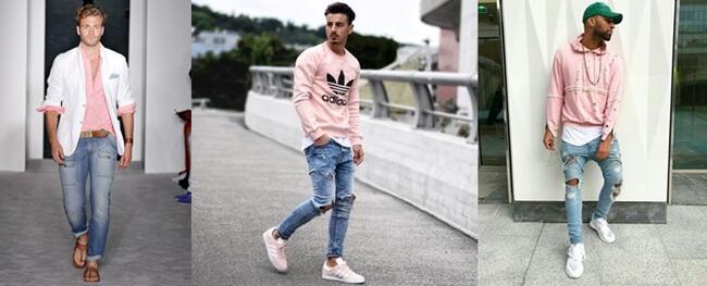 El color rosa se impone en el armario masculino