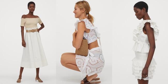 Faldas Blancas que se llevarán el próximo verano