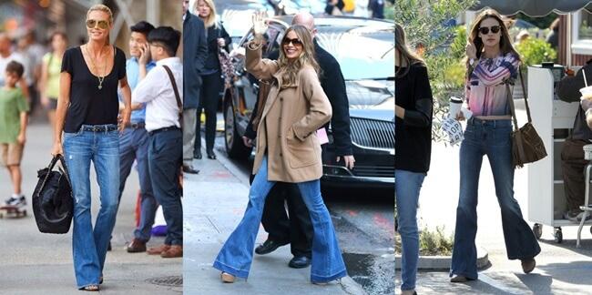 Flare Jeans o Vaqueros de Campana que vuelven a ponerse de moda