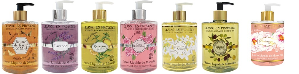 Nuevos Jabones Líquidos de Marsella Jeanne en Provence