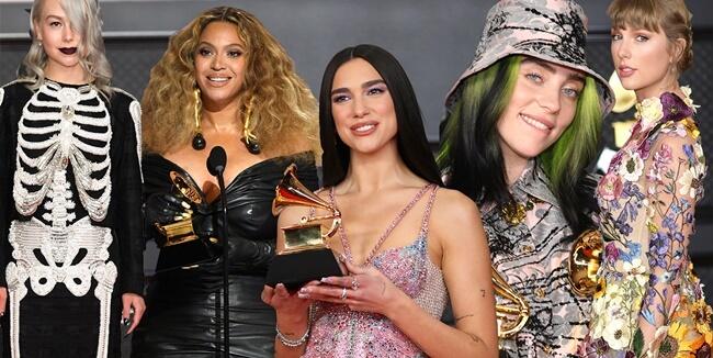 Los Vestidos de las famosas en los Grammy 2021