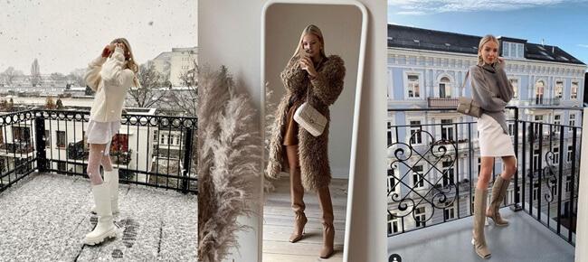 Minifaldas y Botas Altas, la última tendencia del invierno