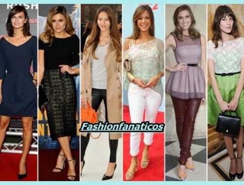 mujeres llevando unas reglas de estilo en su look