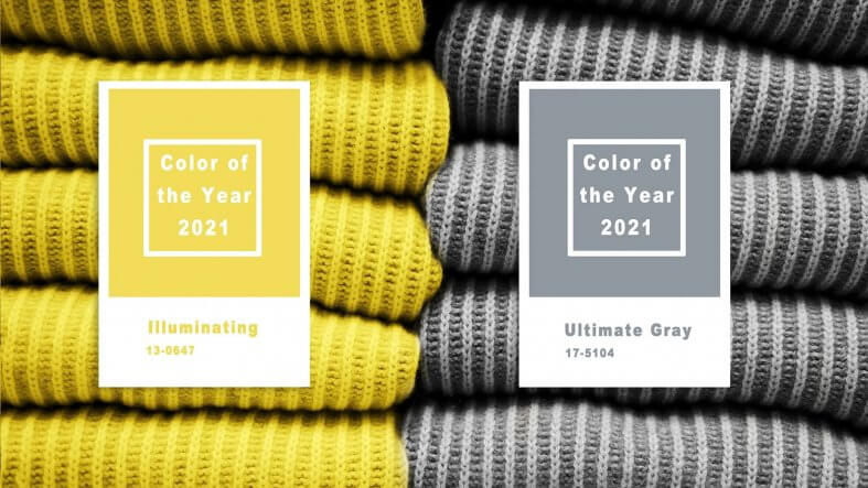 Pantone apuesta por dos colores antagonistas para protagonizar el 2021