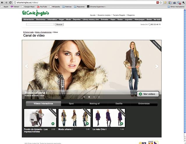 La web de moda de El Corte Inglés lanza un probador virtual para IPhone y Facebook
