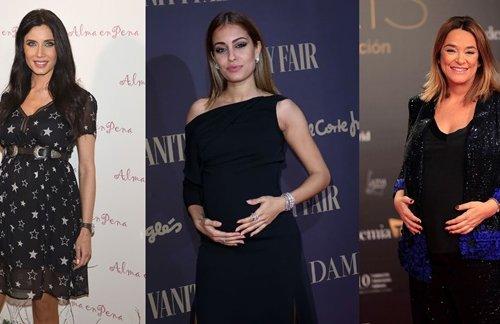 Qué vestidos de fiesta eligen las celebrities embarazadas