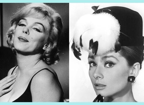 famosas con eyeliner años 50