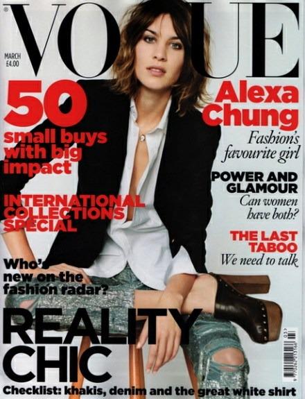 Alexa Chung portada de Vogue UK marzo 2010