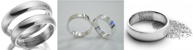 Alianzas de boda con vuestras huellas digitales