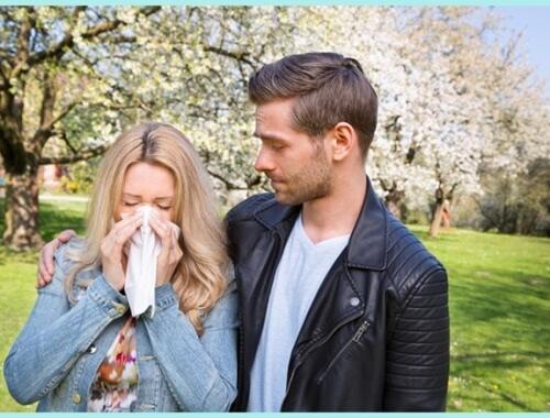 pareja con alergias