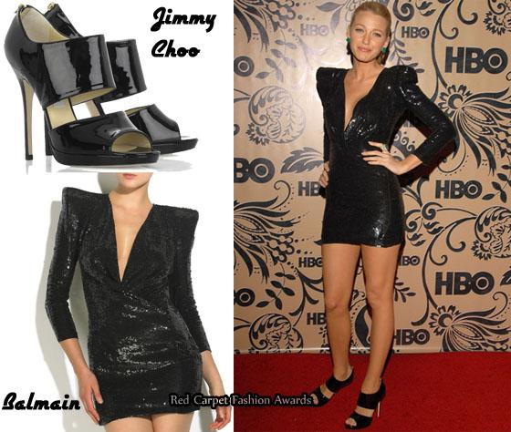 Los zapatos de Blake Lively son de Jimmy Choo