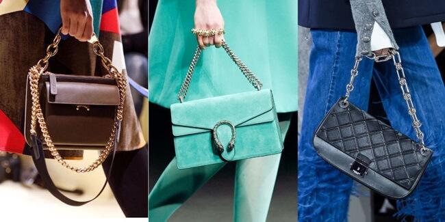 Se llevan los bolsos con cadena