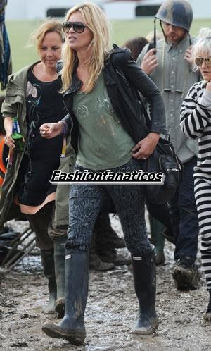 Kate Moss es una incondicional de las botas de agua