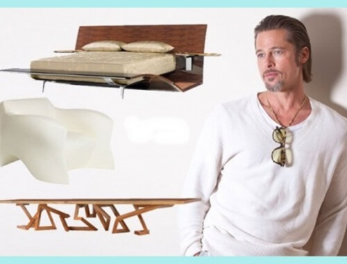 Brad Pitt se pasa al diseño de muebles