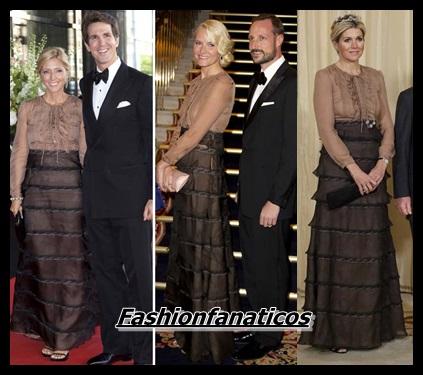 Máxima de Holanda, Marie Chantal de Grecia y Mette-Marit de Noruega, tres mujeres y un mismo vestido