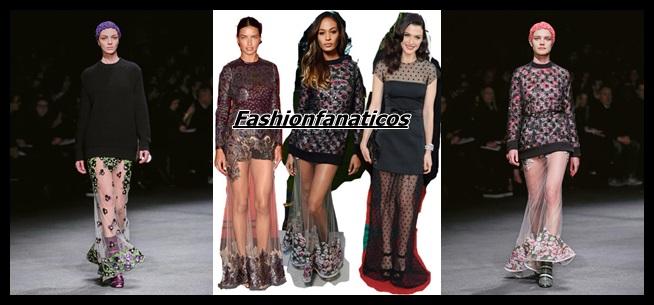 Faldas cristal, lo último en tendencias