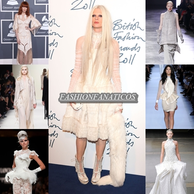 Nueva tendencia, look gótico en color blanco