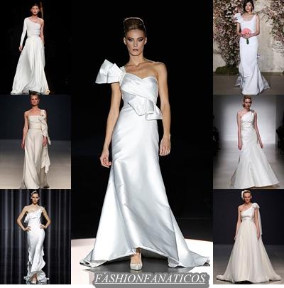 Vestidos de novia asimétricos, lo último del 2012