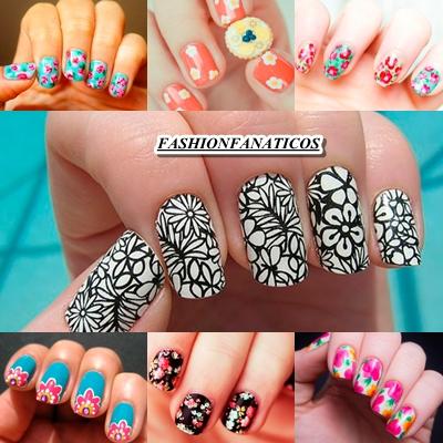 manicura tendencia floral para el verano 2012