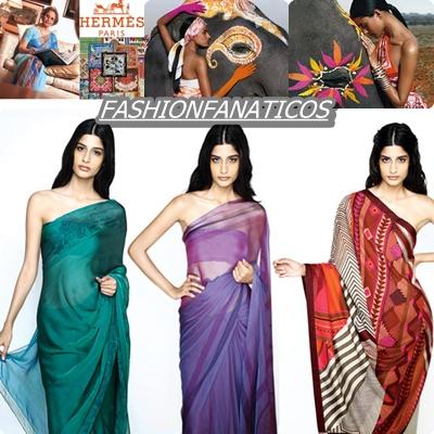 Hermés presenta su increíble colección de Saris
