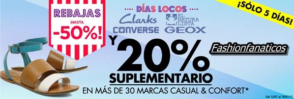 Sarenza nos presenta sus DIAS LOCOS con infinidad de descuentos en más de 30 marcas