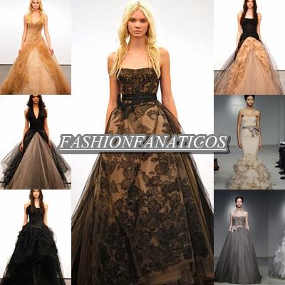 vera wang apuesta por los vestidos de novia negros