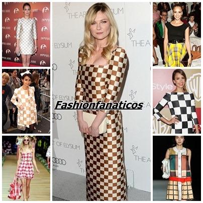 Cuadros, la nueva tendencia en moda Primavera-Verano 2013