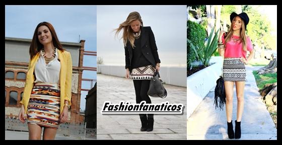 Las faldas étnicas se convierten en el must have de La Primavera-verano 2013