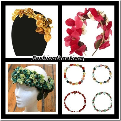 Tendencias coronas de flores para invitadas a una boda