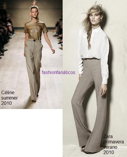Sospechosa semejanza de las colecciones de Zara y Céline para la primavera/verano 2010