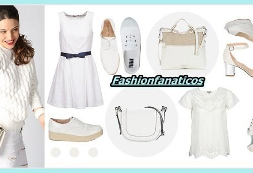 ropa y complementos de color blanco