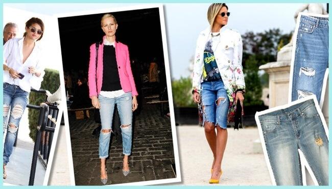 Cómo llevar: Boyfriend y jeans rasgados