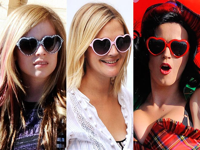 Famosos y sus gafas con forma de corazón