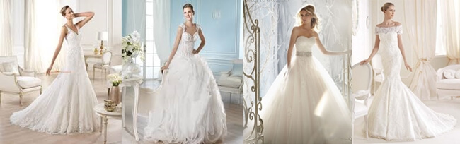Diccionario de escotes de vestidos de novia