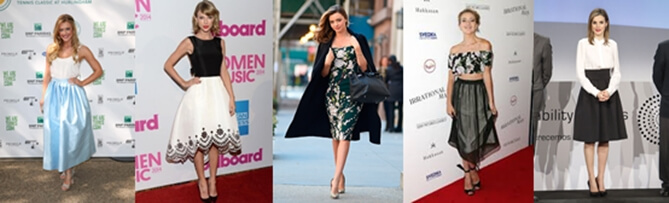 Faldas midi, una tendencia que arrasa