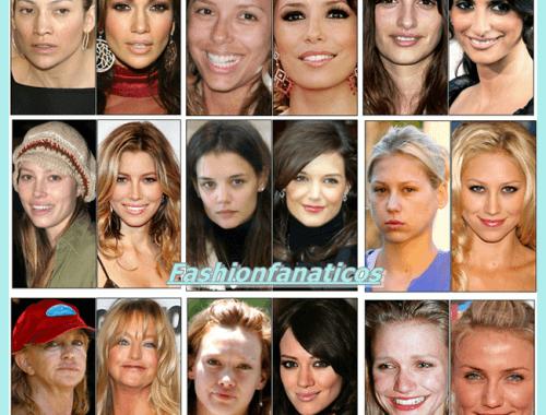 las famosas sin maquillaje